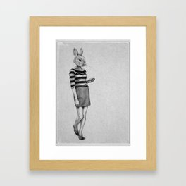 . bunny . Framed Art Print