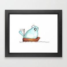Little Sailor blue Framed Art Print