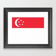 Flag of Singapore Framed Art Print
