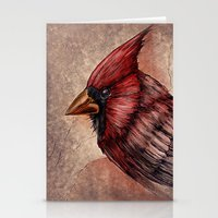 cardinal Stationery Cards featuring Cardinal by Werk of Art