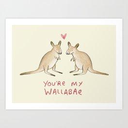 Wallabae Art Print