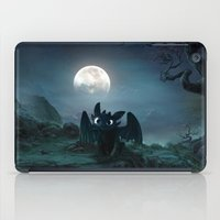 daenerys iPad Cases featuring TOOTHLESS halloween by kattie flynn