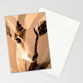 Beautiful and fast - Impala portrait Stationery Cards