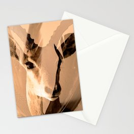 Beautiful and fast - Impala portrait Stationery Cards