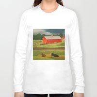 farm Long Sleeve T-shirts featuring Farm by ArtSchool