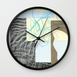 collage with map Wall Clock