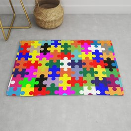 Jigsaw Pieces In Colour Rug
