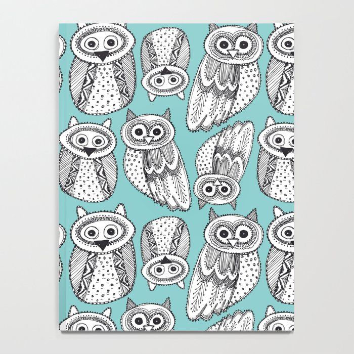 Hand dravn Cute Owl Notebook
