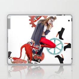 Red Flamingo Trends by Lenka Laskoradova Laptop & iPad Skin