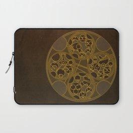 Tick-Tock Poem in Circular Gallifreyan Laptop Sleeve