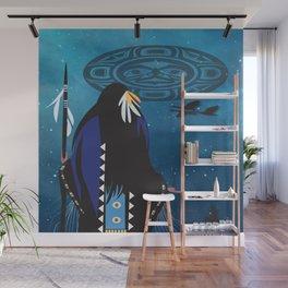 American Native Moon Woman Wall Mural