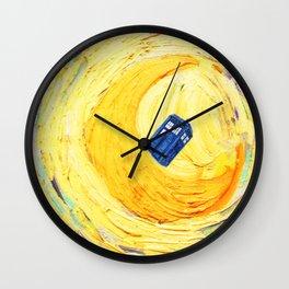 Tardis Flying With Circle Wall Clock