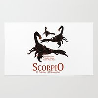 scorpio Area & Throw Rugs featuring Scorpio by Adamzworld