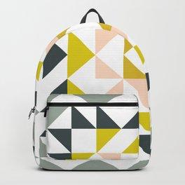 Pretty Triangle Modern Medallion Backpack