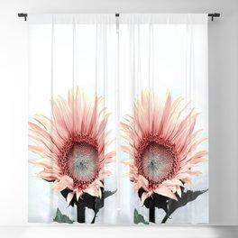 Pink Sunflower Blackout Curtain