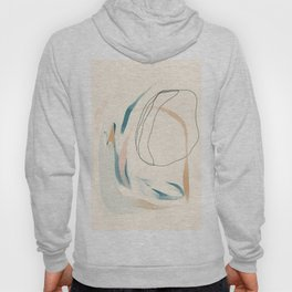 Abstract Lines On Cream. Hoody
