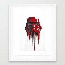 Procrastination in red 1 Framed Art Print