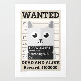 Schrödingers Cat Art Print