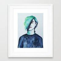 christian schloe Framed Art Prints featuring CHRISTIAN by Kaylan Baker