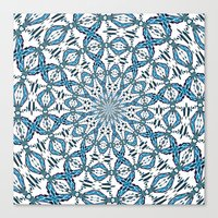 snowflake Canvas Prints featuring Snowflake by Stay Inspired