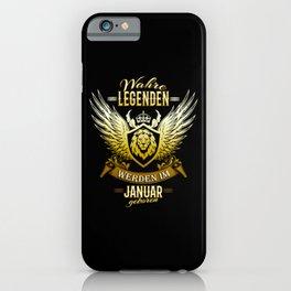 Januar Geburtstag Legenden Geschenk iPhone Case