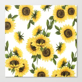 Lovely Sunflower Canvas Print