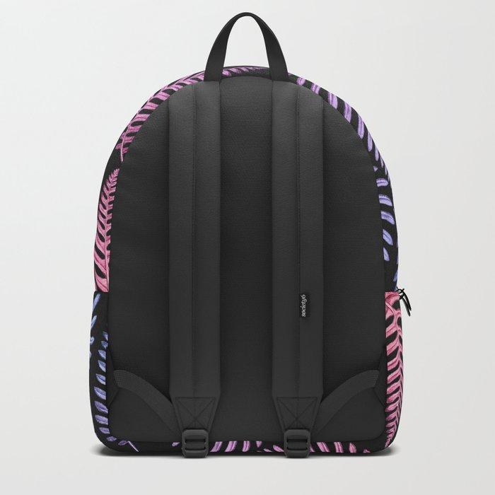 Multi Color Leaves (Black) Backpack
