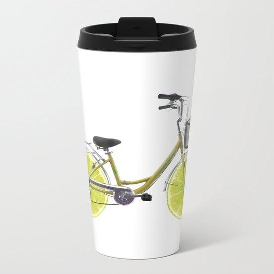 Lemon Bike Metal Travel Mug