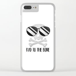Rad To The Bone Clear iPhone Case