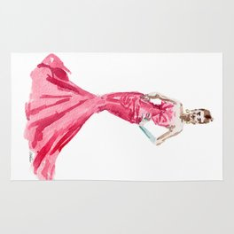 Sabrina / Hepburn Fuschia Pink Red | Fashion Gown Dress Rug