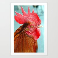 cock Art Prints featuring cock by Michael Sofronski