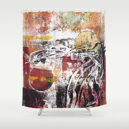 Abstract Monotype No. 8 Shower Curtain