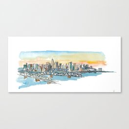 Cincinnati USA Skyline Impressionistic View Canvas Print