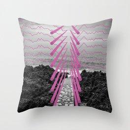 Surreal Beachscape Throw Pillow