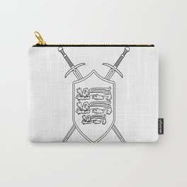 Crossed Swords and Shield Outline Carry-All Pouch