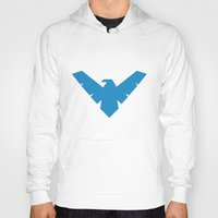 nightwing Hoodies featuring Nightwing by Yesi Danderfer