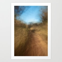 Forest Trail (Abstract ICM), Forth Mountain, Wexford Art Print