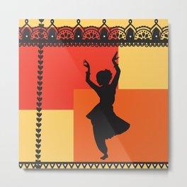 Bharatanatyam Dancer Part 2 Metal Print
