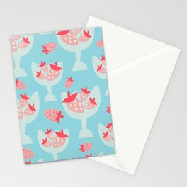 Strawberry Dessert Stationery Cards