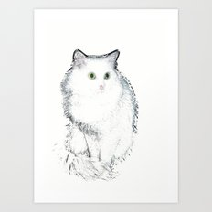 Silent Enquiry-1 (white) Art Print