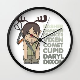 The Walking Dead - Daryl Dixon the Red Nose Reindeer Wall Clock