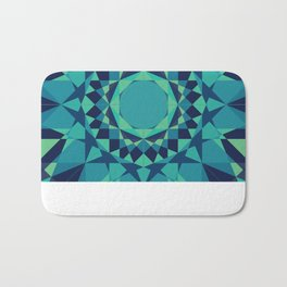 Teal, Navy, & Blue Radial Pattern Bath Mat