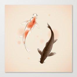 Yin Yang Koi fishes 001 Canvas Print