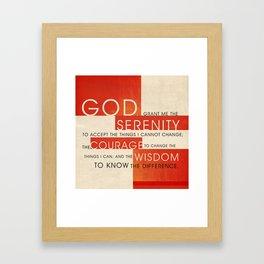 Serenity Prayer Framed Art Print