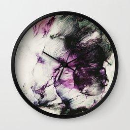Ink petals Wall Clock