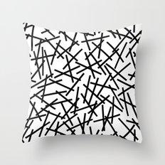 Kerpluk Black on White Throw Pillow