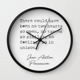 Jane Austen literary quote 15 Wall Clock