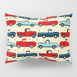 Winter Vintage Trucks Pillow Sham