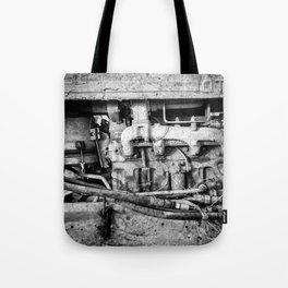 Vintage Engine Machine Block Grunge Grime Tote Bag