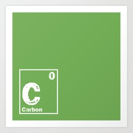 Carbon neutral Art Print